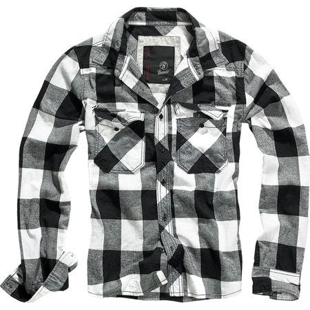 Holzfällerhemd weiss schwarz kariert Größe S bis 7XL