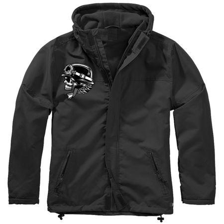 Gefütterter Windbreaker Jacke mit Aufnäher Biker Totenkopf Größe S bis 7XL