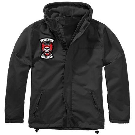 Gefütterter Windbreaker Jacke mit Aufnäher La Familia Respect Größe S bis 7XL