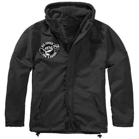 Gefütterter Windbreaker Jacke mit Aufnäher Biker Die Jungs fürs Grobe Größe S bis 7XL