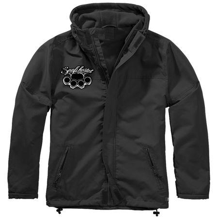 Gefütterter Windbreaker Jacke mit Aufnäher Marke Spaß kostet Größe S bis 7XL