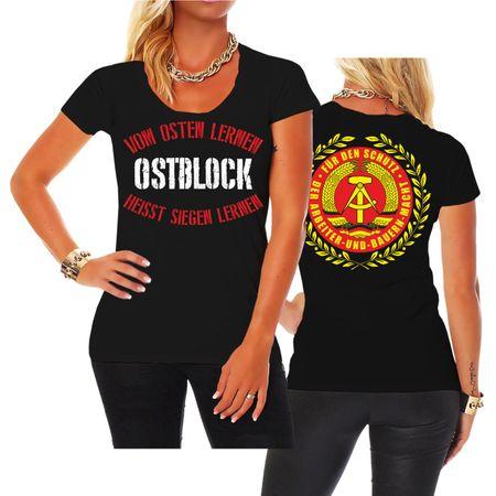 Frauen Shirt DDR Vom Osten lernen heisst Siegen lernen