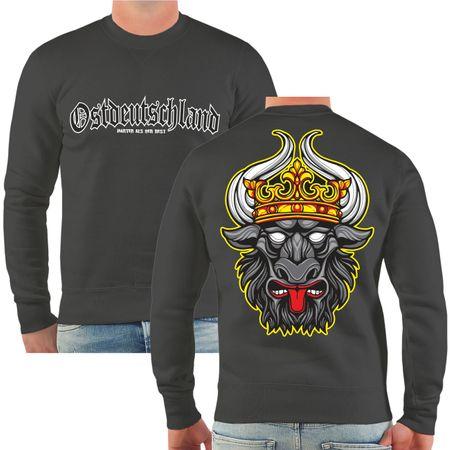 Männer Sweatshirt Ostdeutschland Mecklenburg