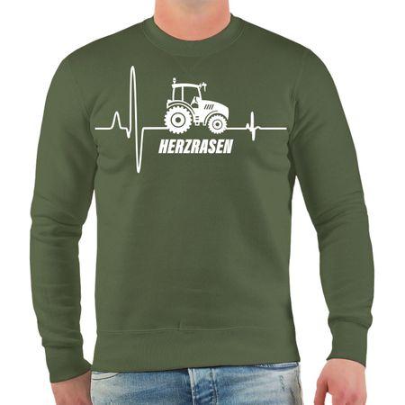Männer Sweatshirt Traktor Herzrasen