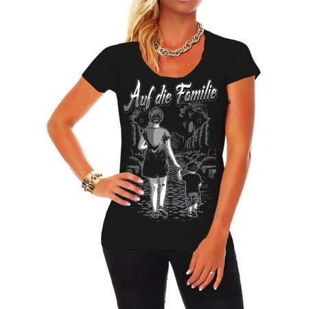 Frauen Shirt Auf die Familie Mutter & Sohn