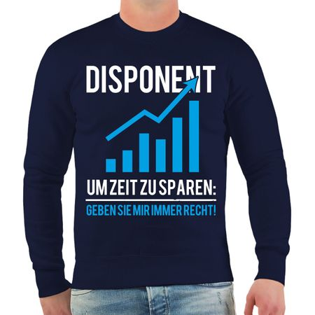 Männer Sweatshirt Disponent Logistik