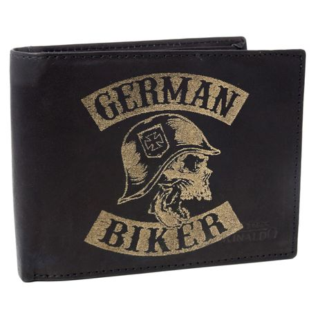 Brieftasche German Biker Rind Leder