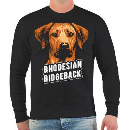 Männer Sweatshirt Rhodesian Ridgeback Porträt