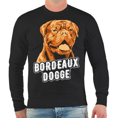 Männer Sweatshirt Bordeaux Dogge Porträt