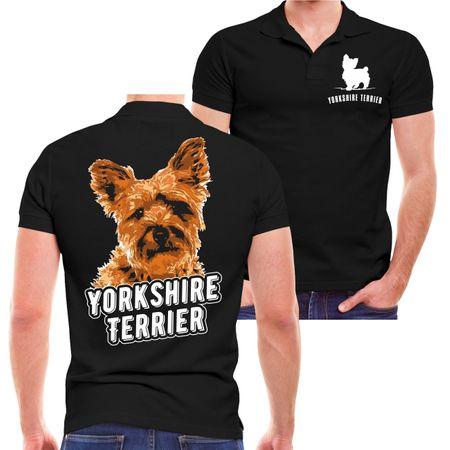 Männer POLO Yorkshire Terrier Porträt