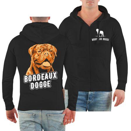 Männer Kapuzenjacke Bordeaux Dogge Porträt