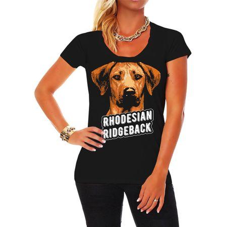 Frauen Shirt Rhodesian Ridgeback Porträt