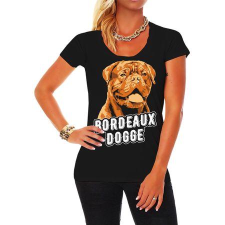 Frauen Shirt Bordeaux Dogge Porträt