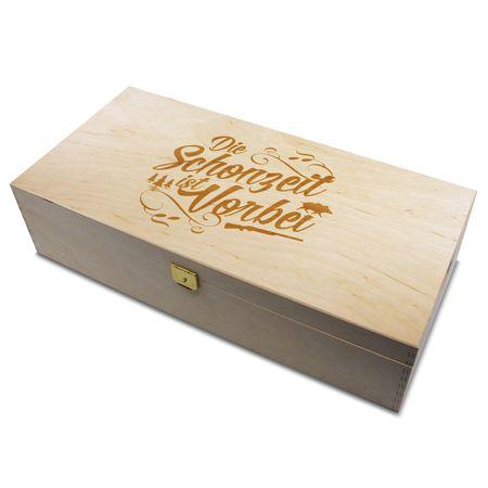 Holzbox Die Schonzeit ist vorbei