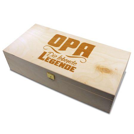 Holzbox Opa die lebende Legende