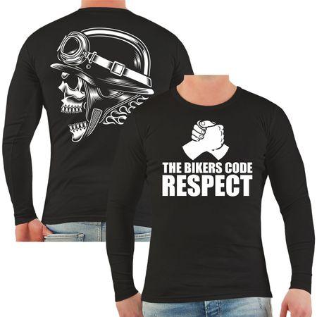 Männer Longsleeve The Bikers Code RESPECT