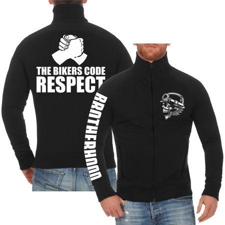 Männer Sweatjacke The Bikers Code RESPECT