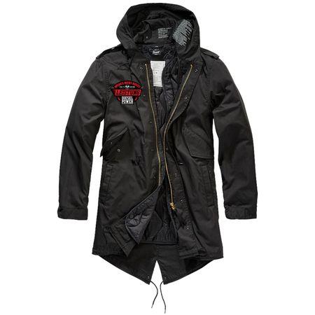 Parka lang Winter Jacke mit heraustrennbaren Futter DIESEL POWER Spruch