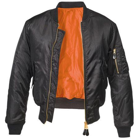 Bomberjacke UNBEDRUCKT schwarz wind und wasserabweisende Jacke