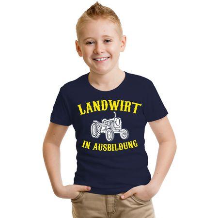 Kinder T-Shirt Landwirt in Ausbildung