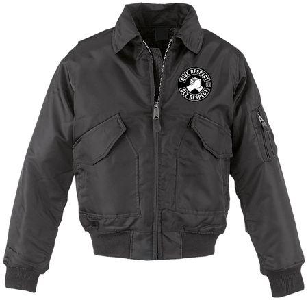 CWU Bomberjacke schwarz mit Kragen Biker MC Code