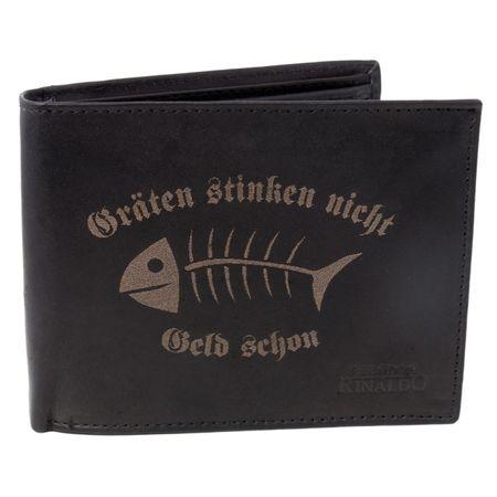 Brieftasche Gräten stinken nicht Geld schon Rind Leder