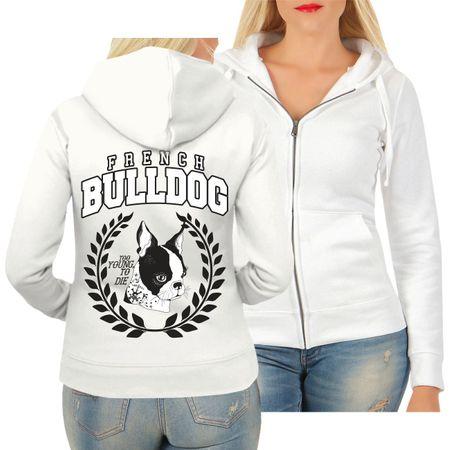 Frauen Kapujacke French Bulldog 2020