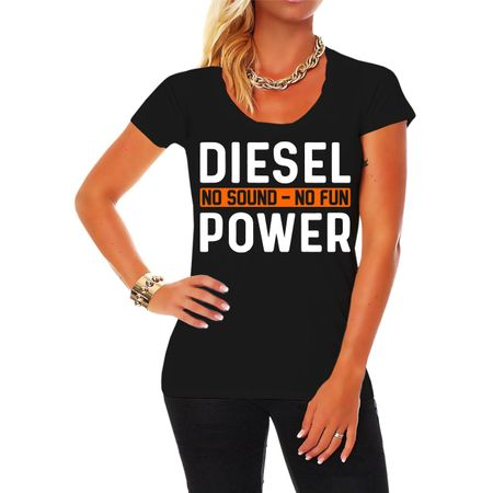 Frauen Shirt Diesel Power No Sound No Fun