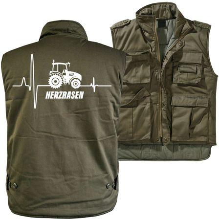 Männer Ranger Weste mit Futter Traktor Herzrasen