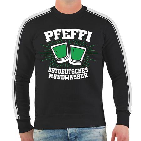 Männer Sweatshirt Pfefferminz Ostdeutsches Mundwasser