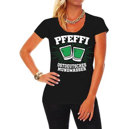 Frauen Shirt Pfefferminz Ostdeutsches Mundwasser