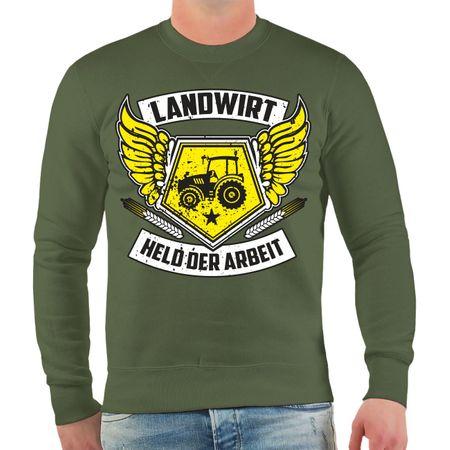 Männer Sweatshirt Landwirt Traktor