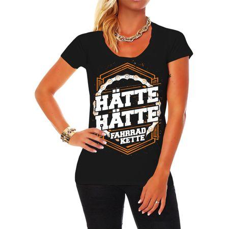 Frauen Shirt Hätte Hätte Fahrradkette