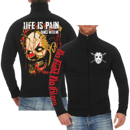 Männer Sweatjacke Life is Pain DANCE WITH ME
