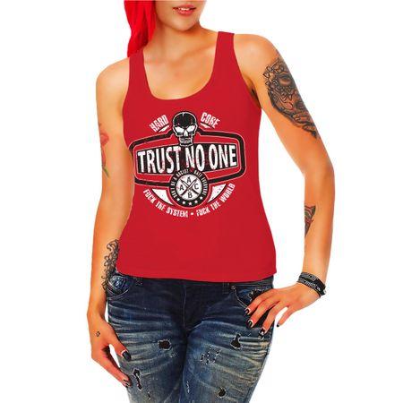 Frauen Trägershirt Trust no one