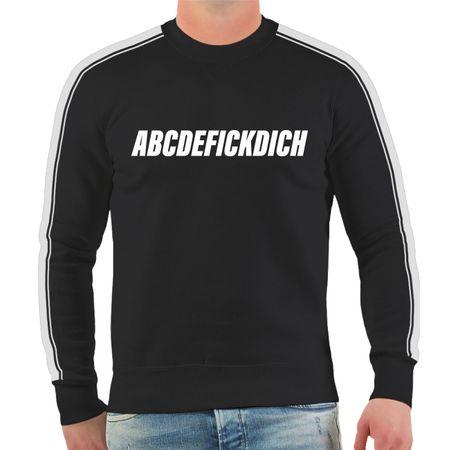 Männer Sweatshirt Leck mich am Arsch Alphabet