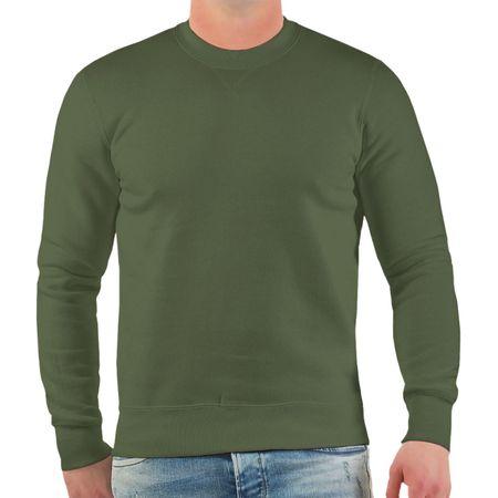 Übergrössen Sweatshirt Pullover in oliv Größe 3XL 4XL und 5XL