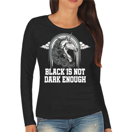 Frauen Longsleeve Black is not dark enough