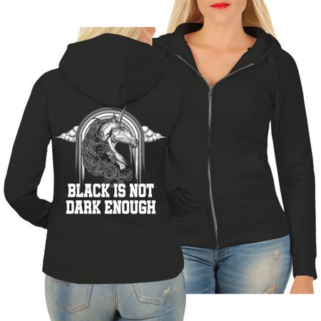 Frauen Kapujacke Black is not dark enough