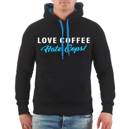 Männer Kapu Love Coffee Hate Cops