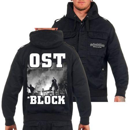 Feldjacke mit Kapuze OSTBLOCK Ostdeutschland Grösse M bis 7XL