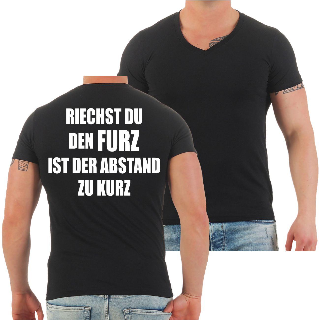 Männer T-Shirt Riechst du den Furz ist der Abstand zu kurz