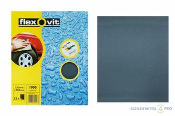 25 Stück Flexovit Schleifpapier 230 x 280 mm wasserfest Korn 600 – Bild 1