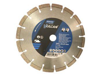 1 Stück Diamantscheibe NORTON 230 x 22,23 mm Vulcan Universal – Bild 2