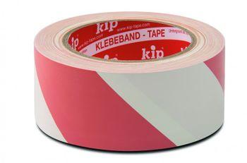 1 Paket (36 Rollen) kip PVC Warnbänder Extra 339-58 weiß/rot  33 m x 50 mm – Bild 2