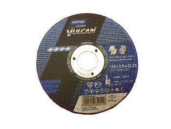 25 NORTON Vulcan Trennscheiben 115x2,5mm Metall / INOX T41 gerade Made in EU – Bild 2