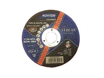 25 NORTON Vulcan Trennscheiben 115x3,0mm Metall / INOX T41 gerade Made in EU – Bild 2
