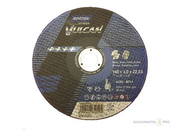 25 NORTON Vulcan Trennscheiben 180x3,0mm Metall / INOX T41 gerade Made in EU – Bild 1