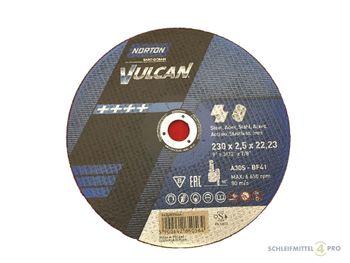 25 NORTON Vulcan Trennscheiben 230x2,5mm Metall / INOX T41 gerade Made in EU – Bild 1