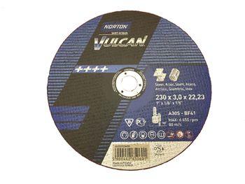 25 NORTON Vulcan Trennscheiben 230x3,0mm Metall / INOX T41 gerade Made in EU – Bild 2